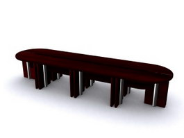 Board-room conference table 3d model preview