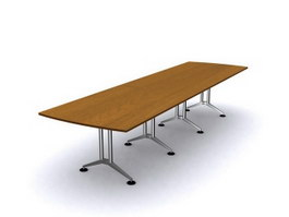 Plate conference table 3d model preview