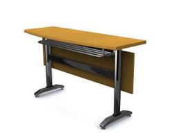 Folding Office Desks 3d model preview