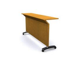Simple reception desk 3d model preview