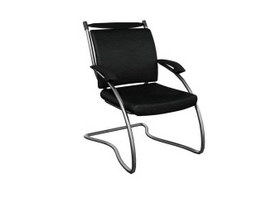Low back executive chair 3d model preview