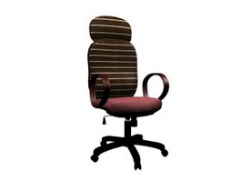 Metal Office Chair 3d model preview