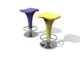 Plastic barstool 3d preview