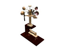 Rotation anemometer 3d model preview