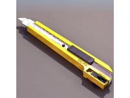 Pen knife cutter 3d preview
