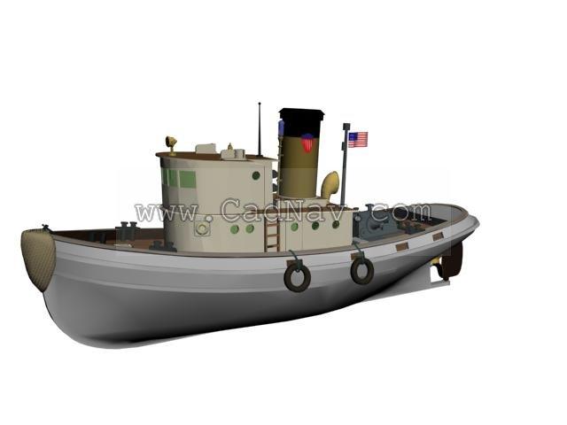 Coast guard patrol boat 3d rendering