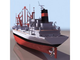 Bahrain cargo ship 3d model preview