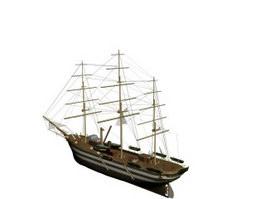 Cargo vessel 3d model preview