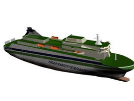 Sister cruise ship 3d model preview