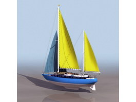 MOONLI sailing boat 3d preview