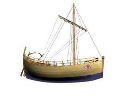 Kyrenia Ship 3d model preview
