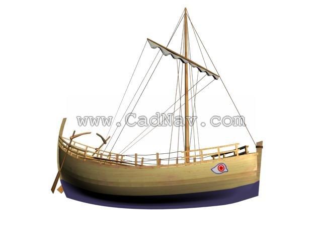 Kyrenia Ship 3d rendering