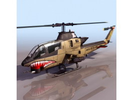 AH-1G HueyCobra helicopter 3d model preview