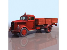 Delivery truck 3d model preview
