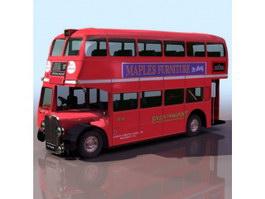 Double-deck bus 3d preview