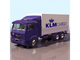 Benz container truck 3d model preview
