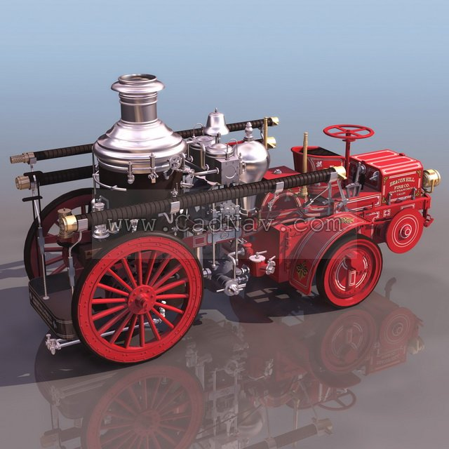Steam coach 3d rendering
