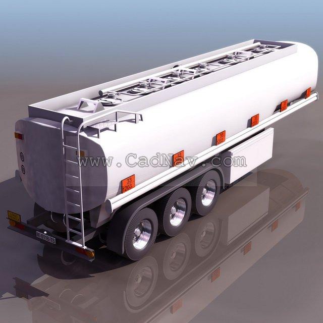 Tank truck trailer 3d rendering