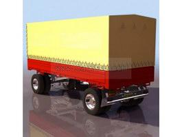 Cargo trailer 3d preview