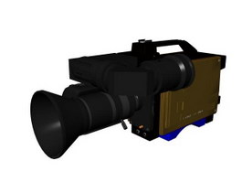 Video camera 3d model preview