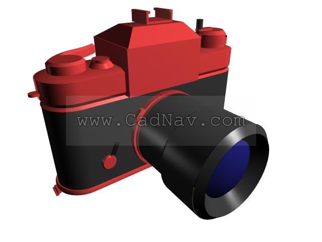 Single-lens reflex camera 3d rendering