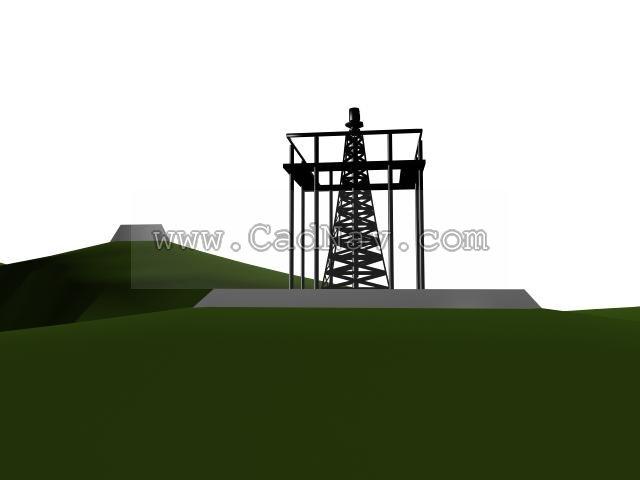 Electric power pylon 3d rendering