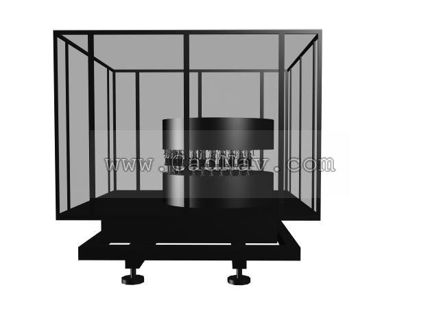 Electron industry equipment 3d rendering
