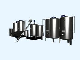 Atmospheric vacuum distillation unit 3d model preview