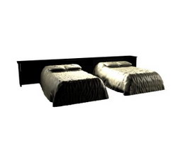 Hotel Twin bed 3d preview