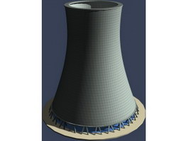Thermal power plant rotary kiln 3d preview