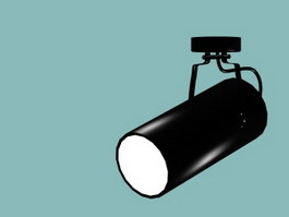 Cylindrical spotlight 3d model preview