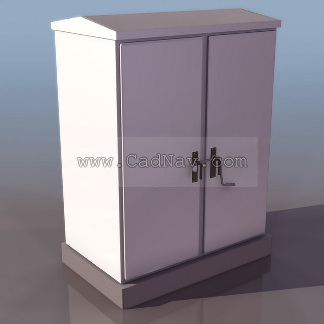 Cable branch box 3d rendering