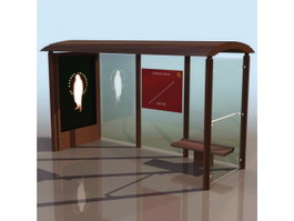 Bus shelter 3d preview