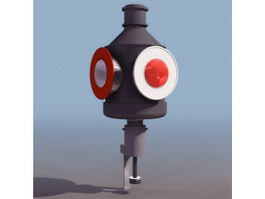 Railway traffic signal 3d preview