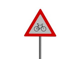Watch out Non-Motor Vehicle traffic signs 3d preview