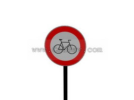 Non-motor vehicle Lane traffic signs 3d preview