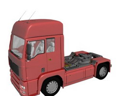 Euro Truck red 3d model preview