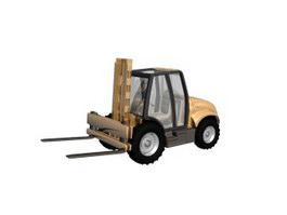 Fork truck 3d model preview