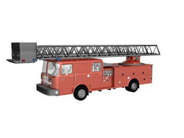 Fire brigade vehicle 3d preview