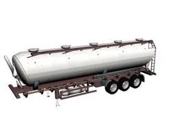 Transportation tank trailer 3d preview