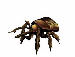 Dung beetle 3d model preview