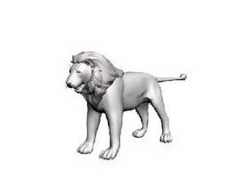 Lion 3d model preview