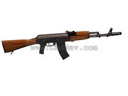 AK47 automatic rifle 3d preview