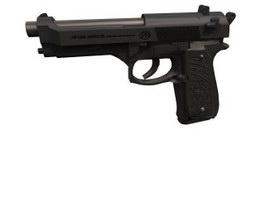 Beretta 92 pistol 3d model preview