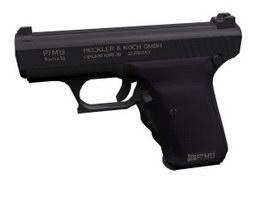 HKP7 pistol 3d model preview