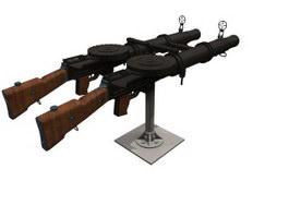 Lewis machine gun 3d preview