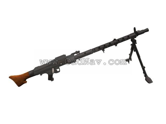 MG34 7.92mm General-purpose Machine Gun 3d rendering