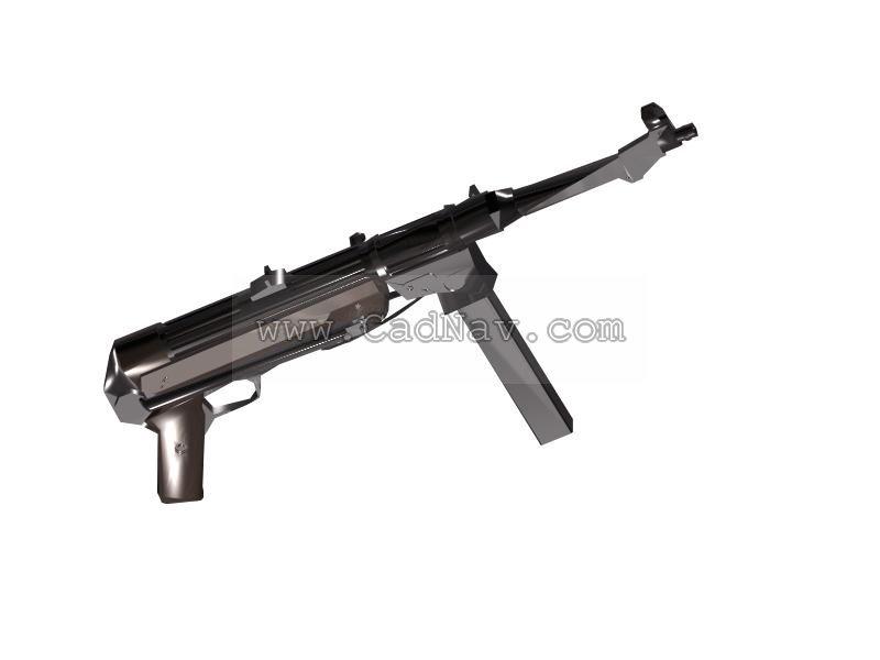 MP38 Submachine Guns 3d rendering