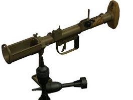 Antitank Piat 3d model preview