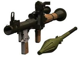Rocket Propelled Grenade 3d model preview